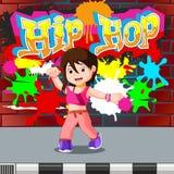 Kids dancing hip hop. Illustration of kids dancing hip hop Stock Images