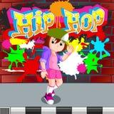Kids dancing hip hop. Illustration of kids dancing hip hop Stock Photography