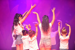Kids dancing modern dance. In end of the year classes show in karmiel Israel Stock Photography