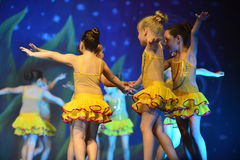 Kids dancing modern dance Royalty Free Stock Image