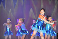 Kids dancing modern dance. In end of the year classes show in karmiel Israel Royalty Free Stock Images