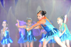 Kids dancing modern dance. In end of the year classes show in karmiel Israel Royalty Free Stock Photos