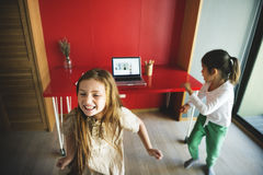 Kids Dancing Practice Computer Concept Royalty Free Stock Photos