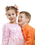 Kids depict couple Royalty Free Stock Images