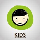 Kids design Stock Images