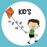 Kids design over blue background vector illustration Royalty Free Stock Images