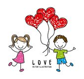 Kids design. Over gray background, vector illustration Vector Illustration