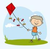 Kids design. Over gray background,vector illustration Royalty Free Illustration