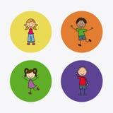 Kids design Stock Image