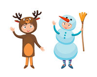 Kids different costumes isolated vector illustration royalty free illustration