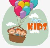 Kids digital design. Royalty Free Stock Photos