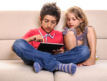 Kids with digital tablet Royalty Free Stock Photography