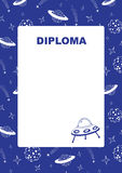 Kids diploma with space background. Royalty Free Stock Photography