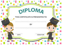 Kids diploma Stock Photo