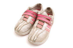 Dirty tennis shoes Royalty Free Stock Photography