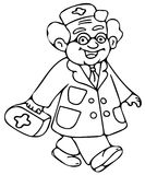 Kids doctor coloring pages Stock Photos