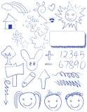 Kids doodles outdoor fun Royalty Free Stock Photos