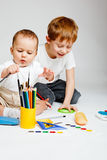 Kids drawing Royalty Free Stock Photos