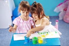 Kids drawing Royalty Free Stock Image