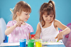 Kids drawing Stock Images