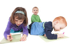 Kids drawing Royalty Free Stock Image