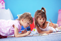 Kids drawing Stock Photos