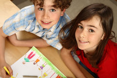 Kids drawing Royalty Free Stock Photo