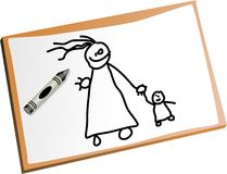 Kids drawing Royalty Free Stock Images