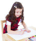Kids drawing with crayons. Royalty Free Stock Photography