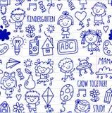 Seamless pattern Kids drawing Kindergarten School Happy children play Illustration for kids Nursery Preschool Children. Kids drawing Kindergarten School Happy Royalty Free Stock Image