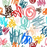 Kids drawing pencil marker effect seamless colorful pattern hand drawn for posters background prints t shirts and stock illustration