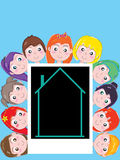Kids Dream Home Template Stock Image