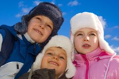 Kids Dressed for Winter-2 Royalty Free Stock Images