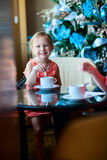 Kids drinking tea Stock Photography