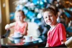Kids drinking tea Royalty Free Stock Photo