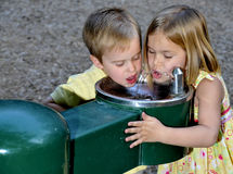 Kids Drinking Water royalty free stock photo