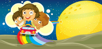Kids driving car Royalty Free Stock Photos