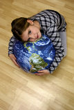 Kids and Earth Royalty Free Stock Photos