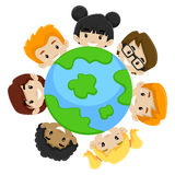Kids earth diversity Stock Images