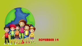 Kids are on earth to celebrate occasion