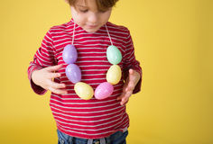 Kids Easter Activity and Crafts Royalty Free Stock Images