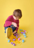 Kids Easter Egg Hunt Activity Stock Photo