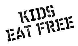 Kids Eat Free rubber stamp. Grunge design with dust scratches. Effects can be easily removed for a clean, crisp look. Color is easily changed Stock Photos