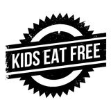 Kids Eat Free rubber stamp Royalty Free Stock Photo