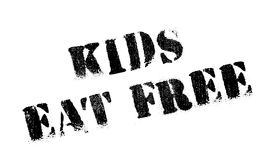 Kids Eat Free rubber stamp Stock Photos