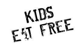 Kids Eat Free rubber stamp Royalty Free Stock Image