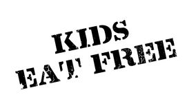 Kids Eat Free rubber stamp Stock Image