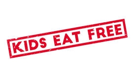 Kids Eat Free rubber stamp Stock Photography
