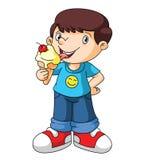 Kids eat ice cream Stock Image