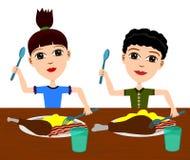 Kids eating Royalty Free Stock Photo